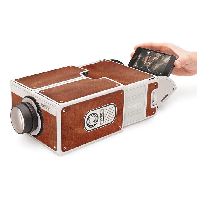 Projecteur pour smartphone 2.0 - Motif bois