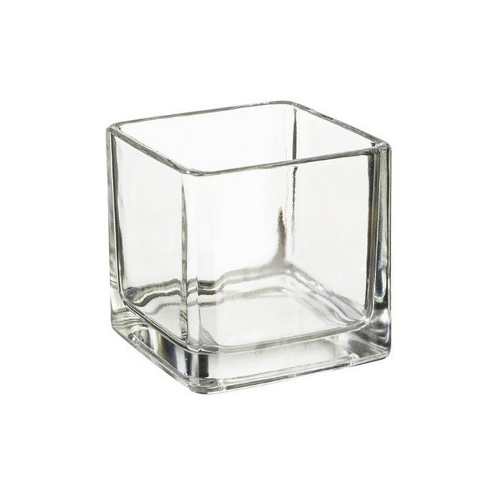 Récipient en verre carré