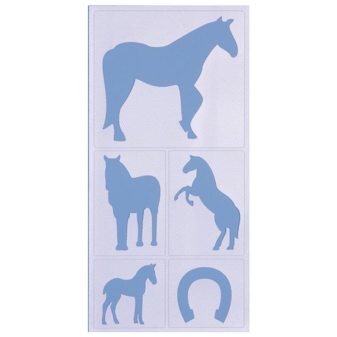 Pochoir adhésif chevaux