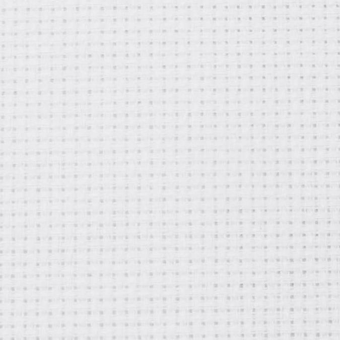 Toile Aïda 5,5 pts/cm - Petit modèle Blanc - 35 x 45 cm