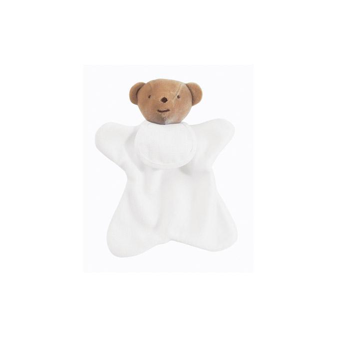 Doudou à broder ourson - 20 cm Blanc