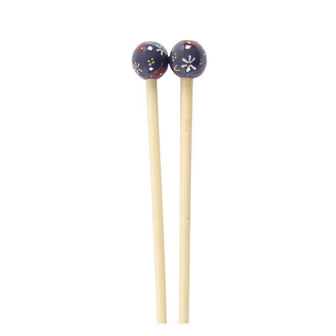 Aiguille à tricoter en bambou 40 cm - n° 6