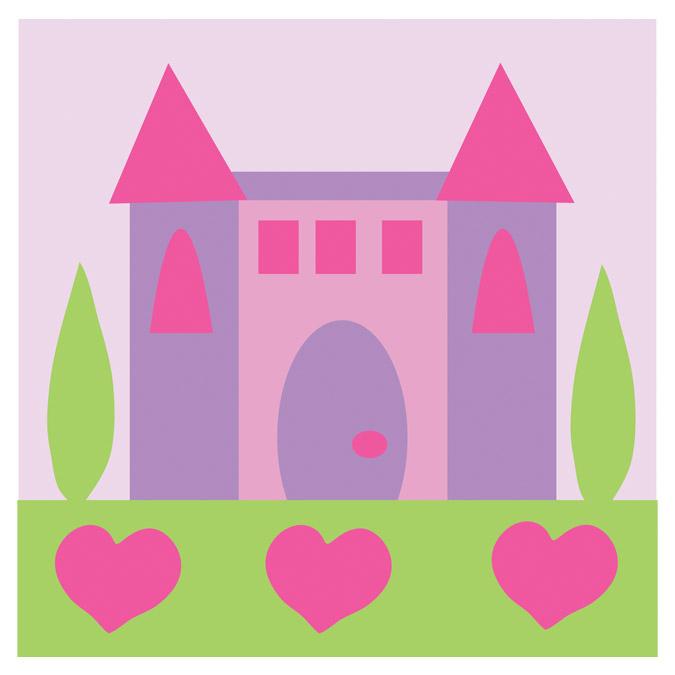 Kit de tapisserie enfant XXL - Le château princesse - 15 x 15 cm