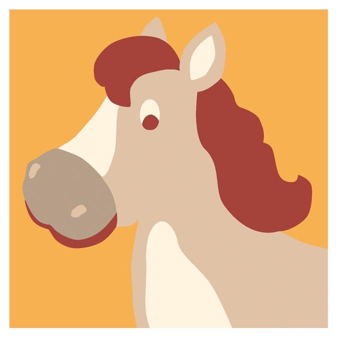 Kit de tapisserie enfant XXL - Le cheval - 15 x 15 cm