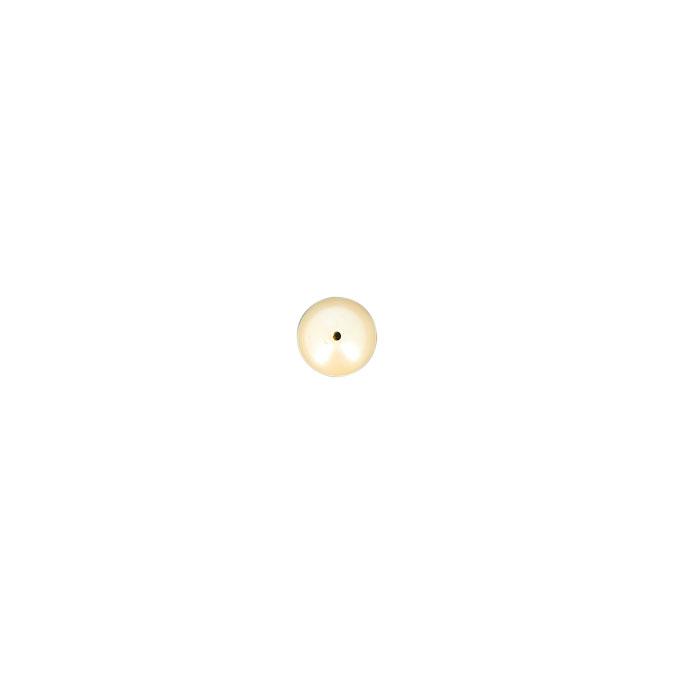 Perle ronde synthétique nacrée champagne - 14 mm