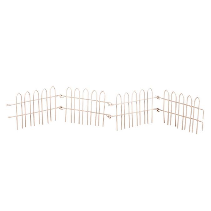 Barrière de clôture blanc 11 x 6,5 cm