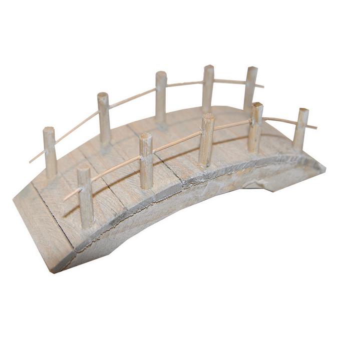 Pont en bois plat 10 x 4 x 4,5 cm