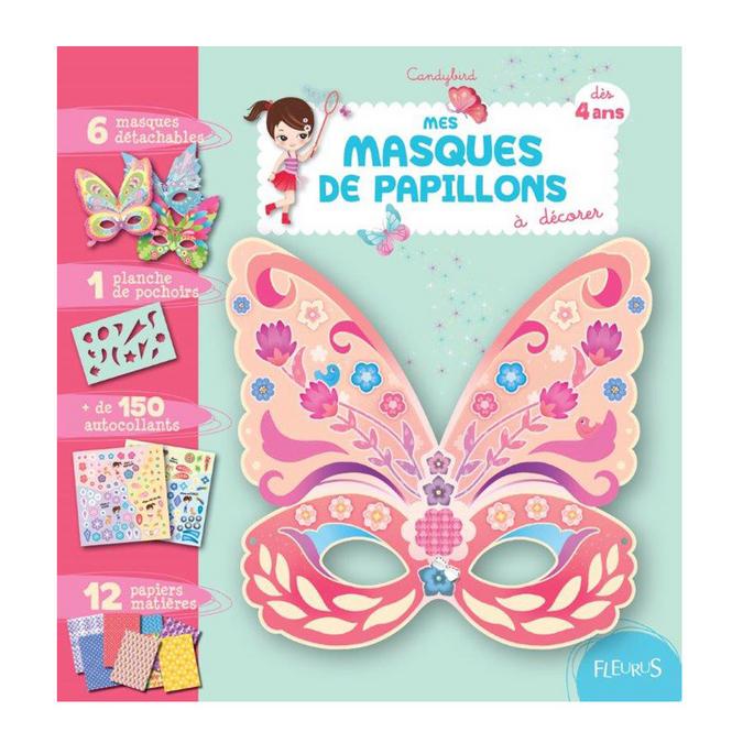 Mes masques de papillons à décorer
