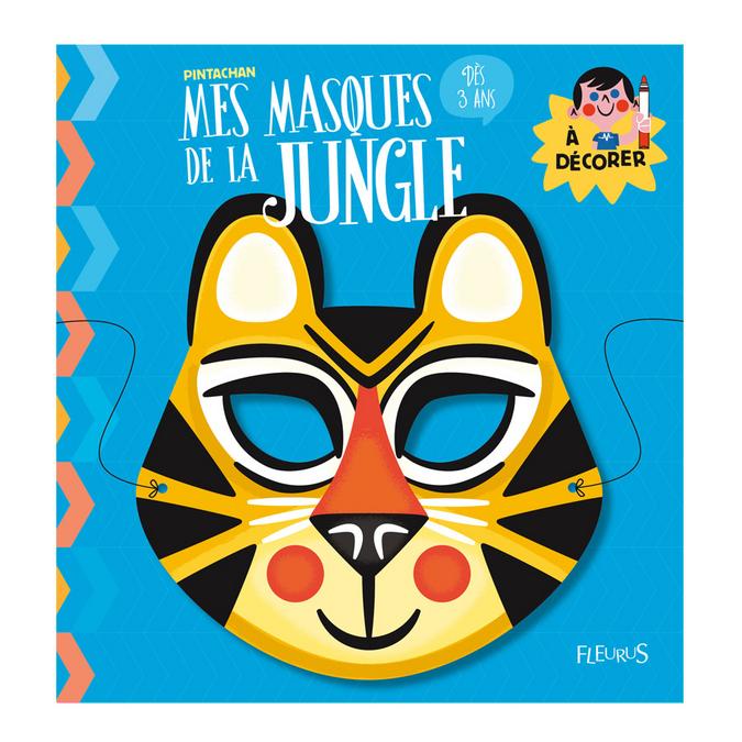 Mes masques des animaux de la jungle à décorer