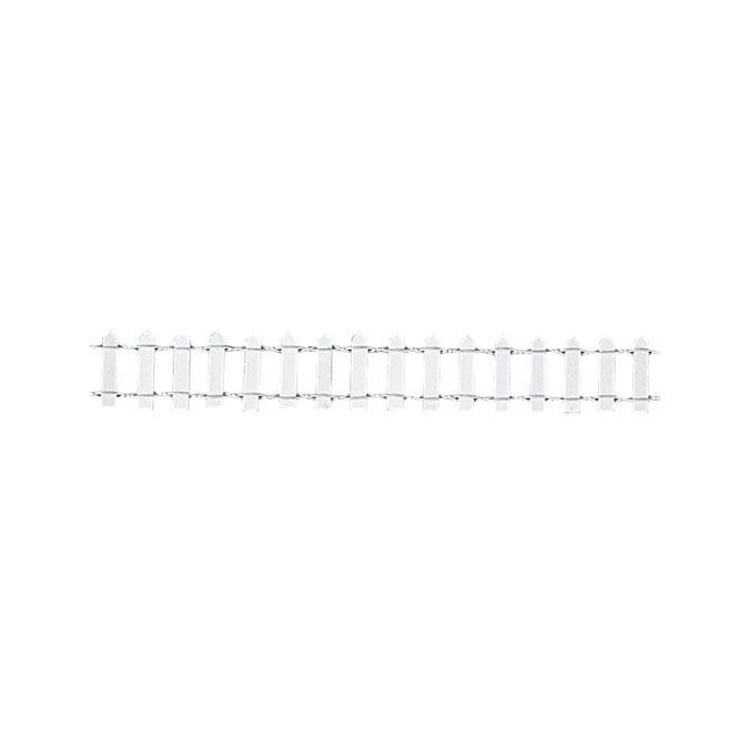 Clôture de jardin blanche 30 x 3 cm