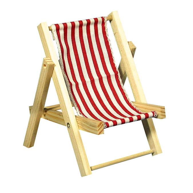 Chaise longue en bois rouge classique 14 cm