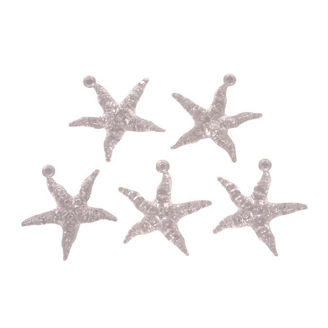Etoile de mer en acrylique 4,5 cm - 5 pcs