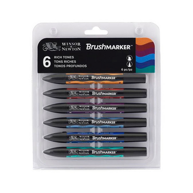 Marqueur Brushmarker 6 tons Riches