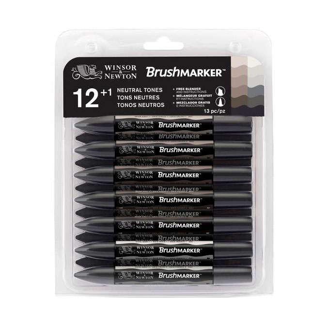 Marqueur Brushmarker 12 tons Gris
