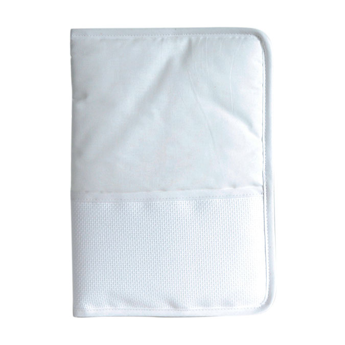 Protège carnet de santé à broder - 18 x 25 cm Blanc