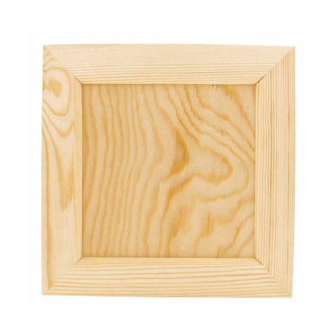 Cadre pour photo ou serviettes en bois - 21,5 x 21,5 x 2 cm