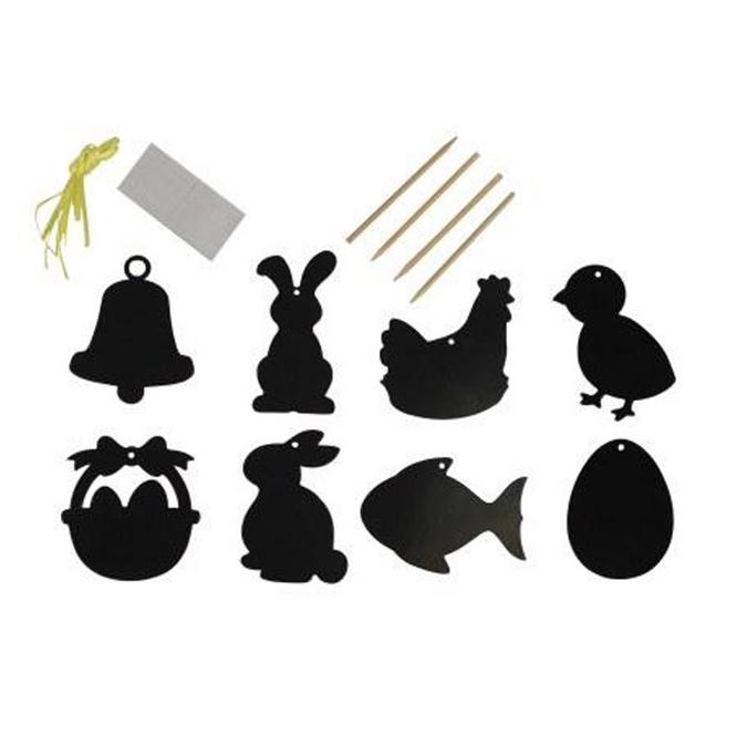 Motifs de Pâques à gratter 8 à 10 cm - 8 pcs