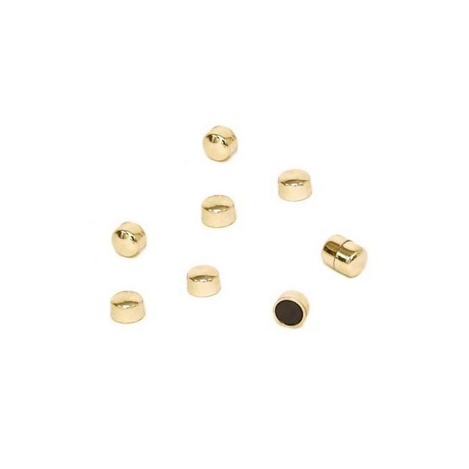 Aimants Plots magnétiques dorés 10 mm - 18 pcs
