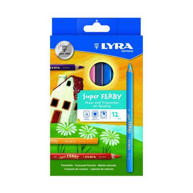 Crayon de couleur Super Ferby - 12 couleurs