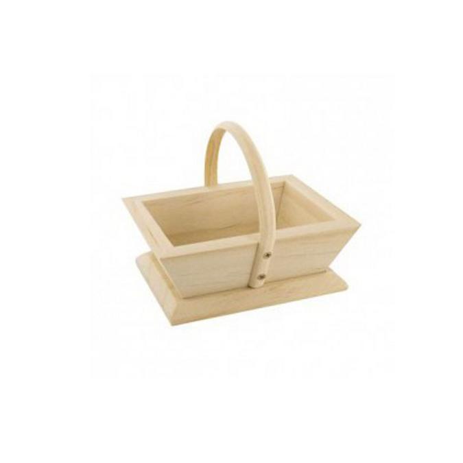 Mini panier de jardinier en bois 9 x 7 x 7 cm