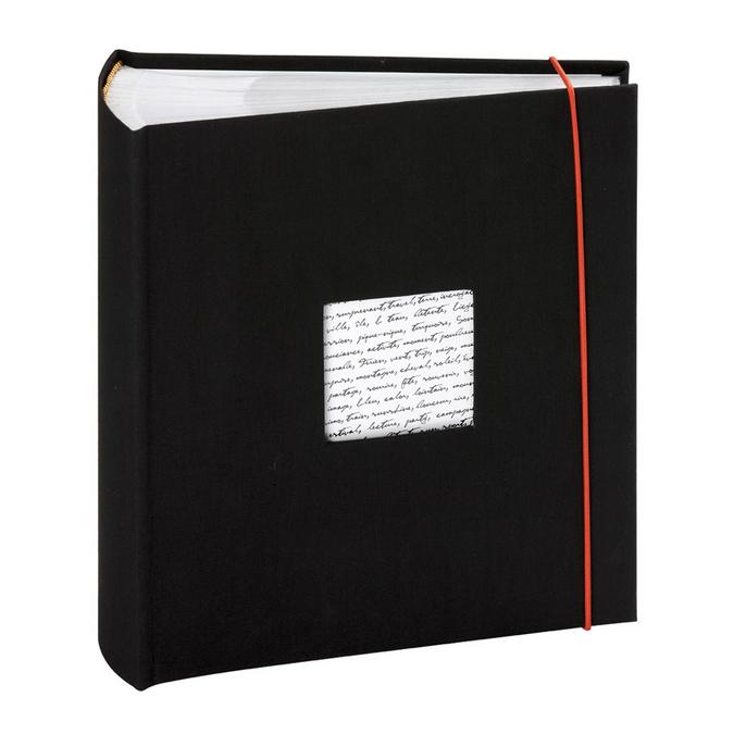 Album photo à pochettes - 150 pages 22,5 x 25,2 cm - Modèle Linéa Noir