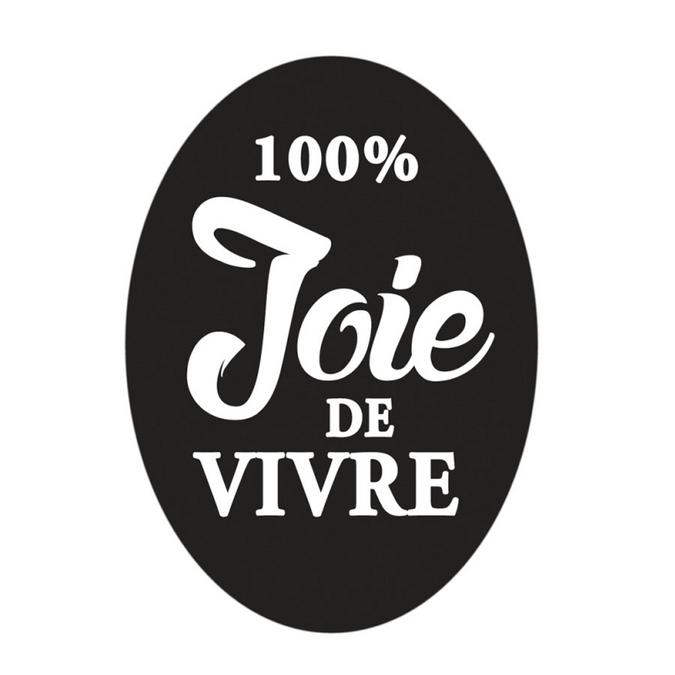 Labels à empreinte 100% joie de vivre