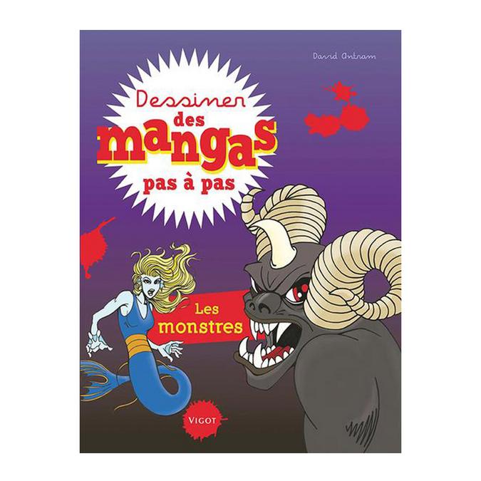 Livre Dessiner des mangas pas à pas Les monstres