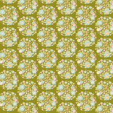 Coupon de tissu Collection Bumblebee 50 x 55 cm - Flower Nest Green