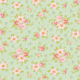 Coupon de tissu Collection Bumblebee 50 x 55 cm - Rosa Mollis Teal