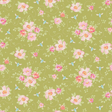 Coupon de tissu Collection Bumblebee 50 x 55 cm - Rosa Mollis Green