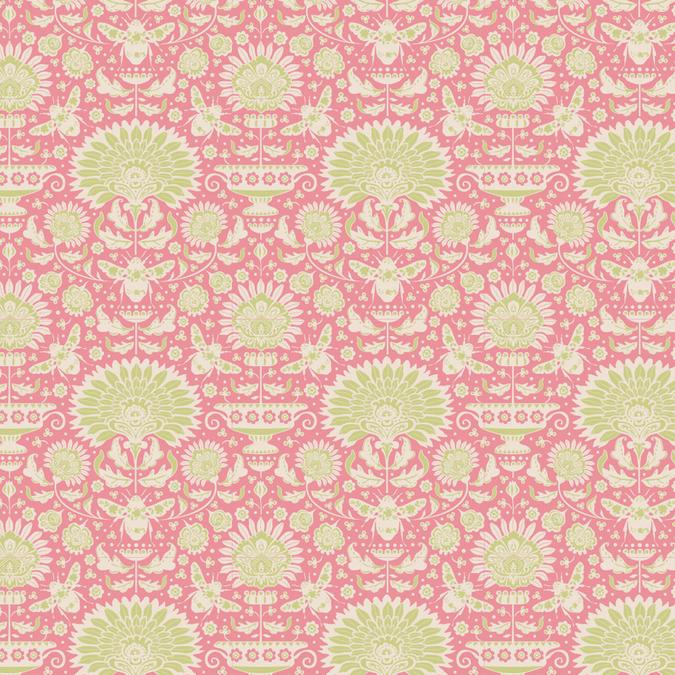 Coupon de tissu Collection Bumblebee 50 x 55 cm - Garden Bees Pink