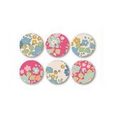 Bouton en tissu Collection Bumblebee Ø 20 mm - 6 pcs