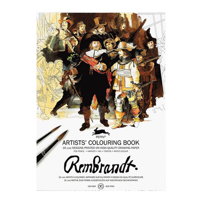 Livre de coloriage multi-techniques Thème Rembrandt