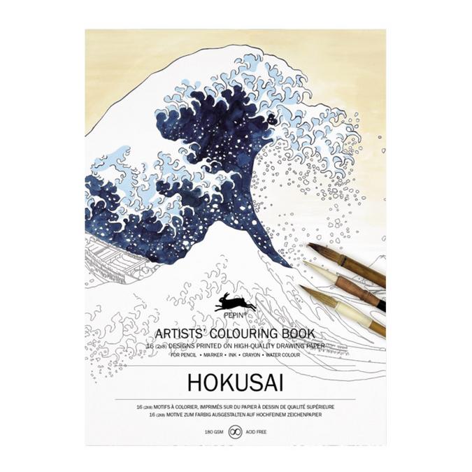 Livre de coloriage multi-techniques Thème Hokusai