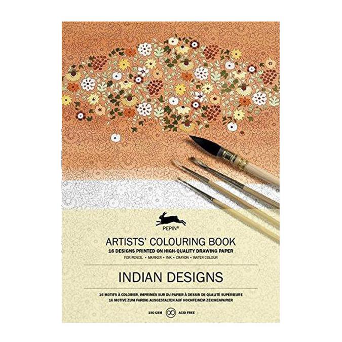 Livre de coloriage multi-techniques Thème Design Indiens