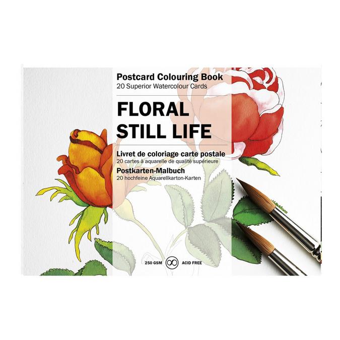 Livre de coloriage Carte Postale Thème Fleurs