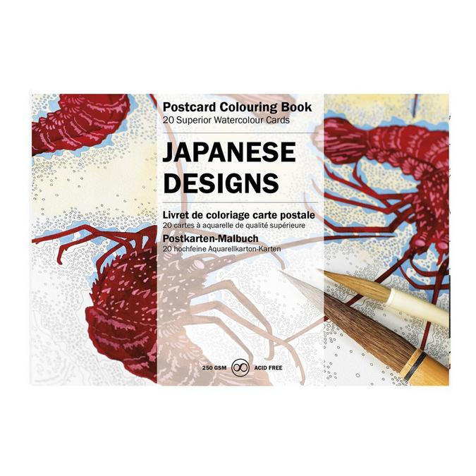 Livre de coloriage Carte Postale Thème Design Japonais
