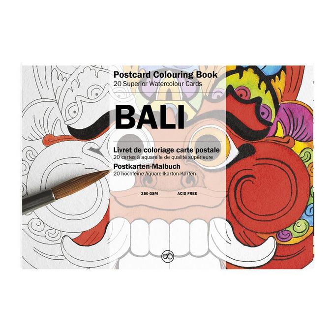 Livre de coloriage Carte Postale Thème Bali