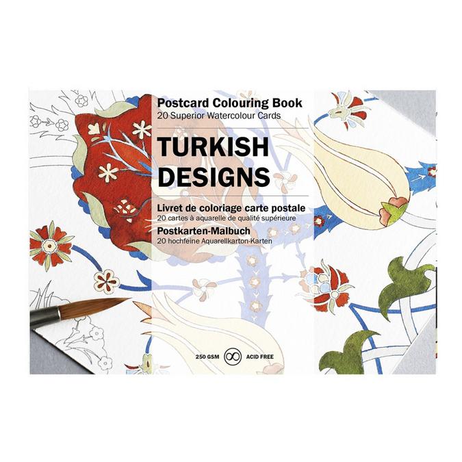 Livre de coloriage Carte Postale Designs Turcs