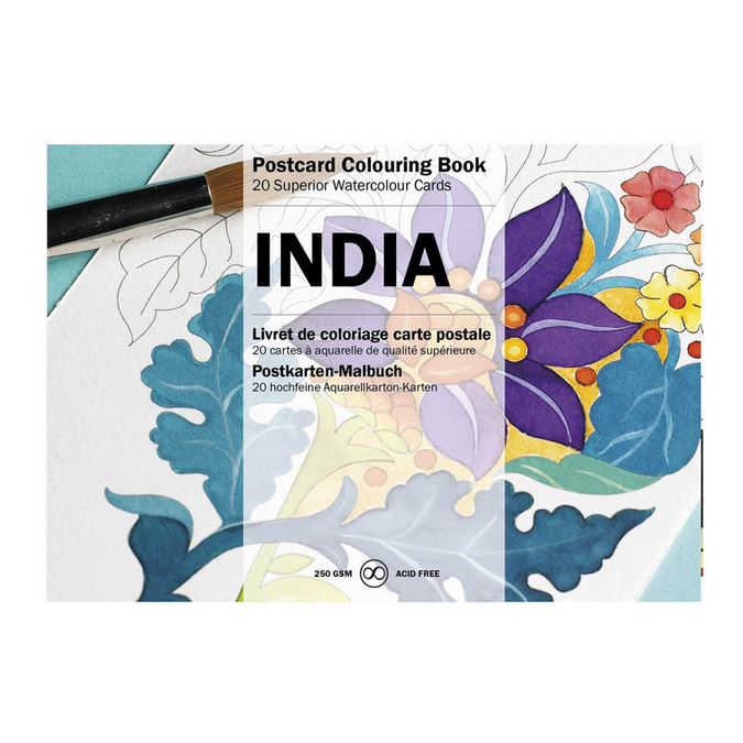 Livre de coloriage Carte Postale Thème Inde