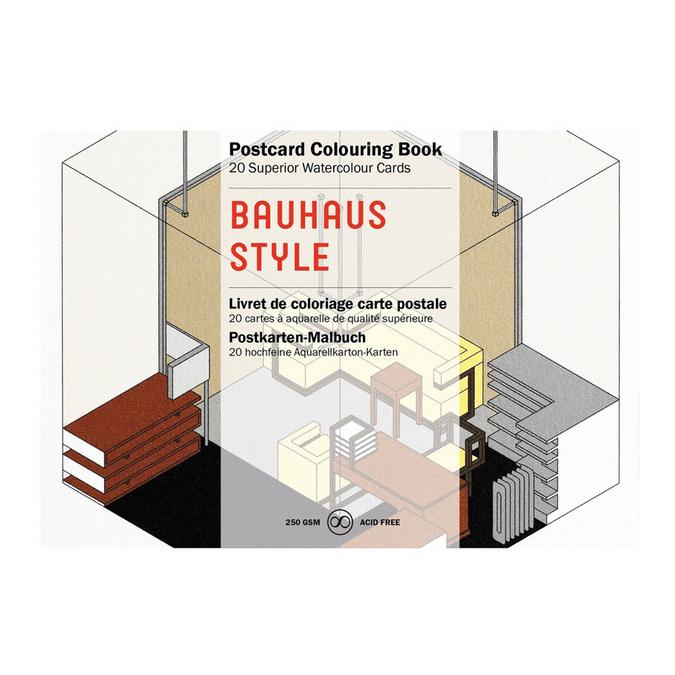 Livre de coloriage Carte Postale Thème Style Bauhaus