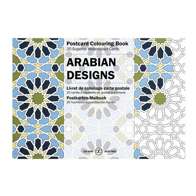 Livre de coloriage Carte Postale Thème Design Orientaux