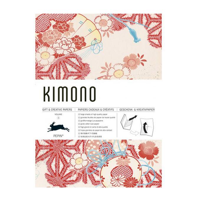 Livre de papier cadeau Thème Kimono