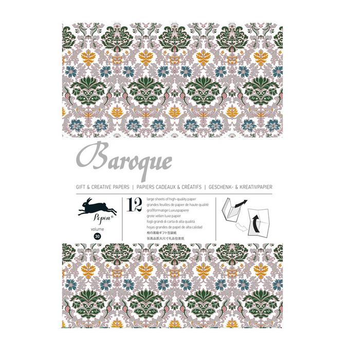 Livre de papier cadeau Thème Baroque