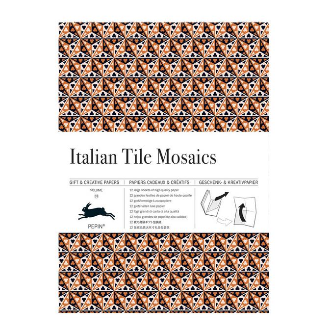 Livre de papier cadeau Thème Mosaïque Italienne