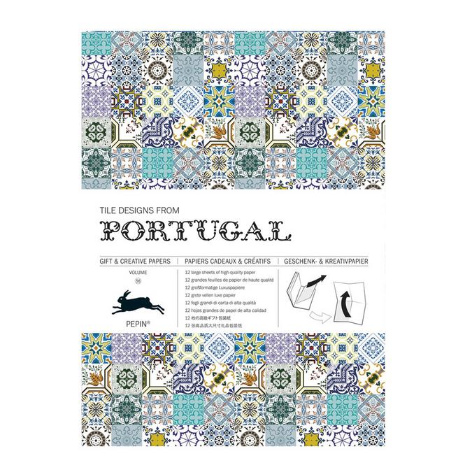 Livre de papier cadeau Thème Carrelage Portugais