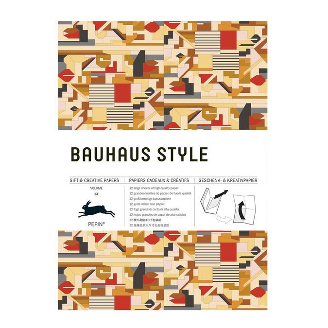 Livre de papier cadeau Thème Style Bauhaus