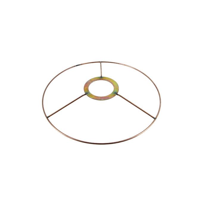 Carcasse d'abat-jour Cercle bagué E27 Ø 20 cm Cuivre