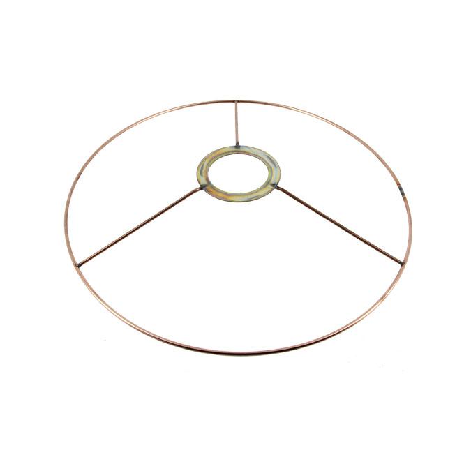 Carcasse d'abat-jour Cercle bagué E27 Ø 25 cm Cuivre