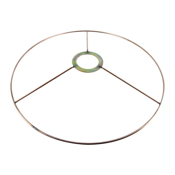 Carcasse d'abat-jour Cercle bagué E27 Ø 30 cm Cuivre